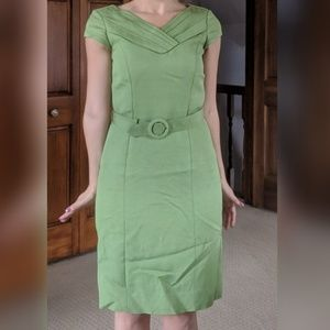 Classiques Entier Green Belted Sheath